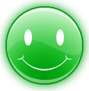 happy face green