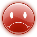 sad face red